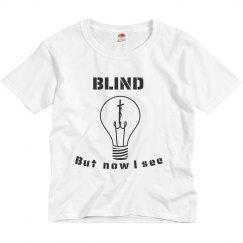 Youth Blind Tee Grey