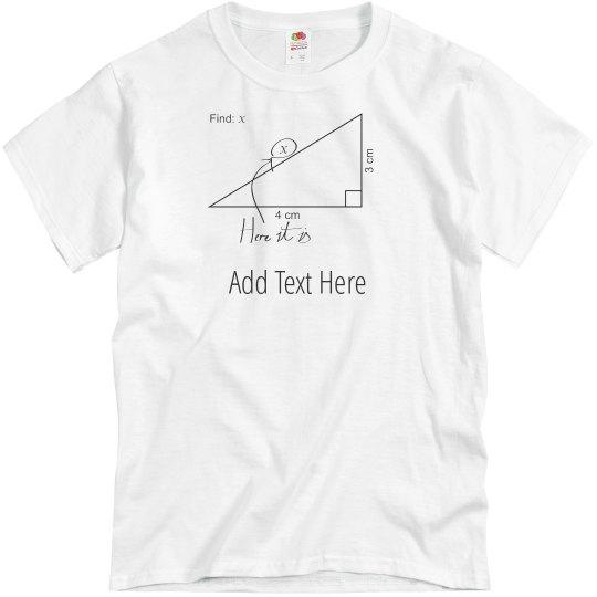 9c05091e97 Custom Math Teacher Gift Unisex Basic Promo T-Shirt