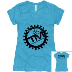 Womens V Neck - Teal