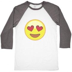 Emoji grey and white shirt