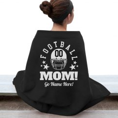 Football Mom Blanket With Custom Name Number