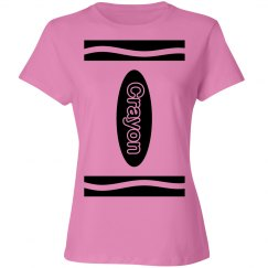 Pink Crayon Shirt Costume