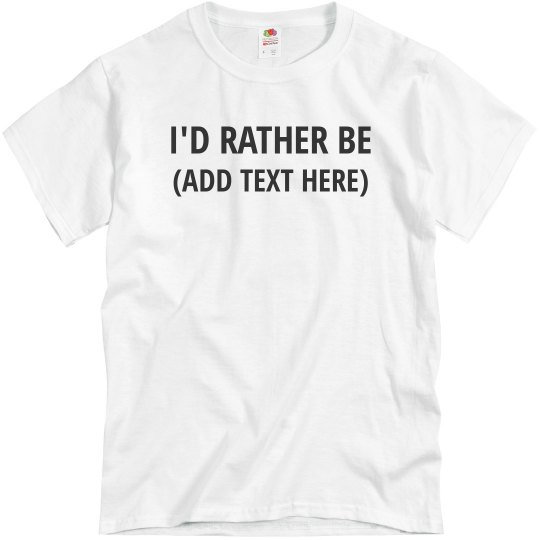 54954718 Custom Dad's Favorite Hobby Unisex Basic Promo T-Shirt