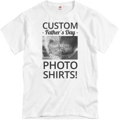 Custom Father's Day Photo Shirt
