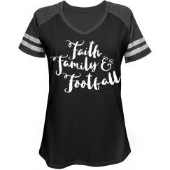 Faith Family And Football - Football Mom Shirt