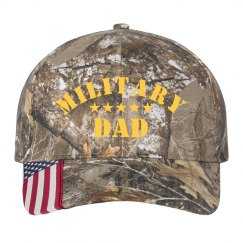 Military Dad Camouflage Print Hat