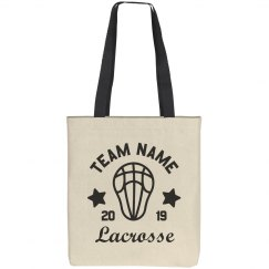 Custom Lacrosse Team Tote Bag
