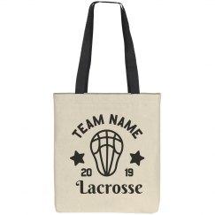 Custom Lacrosse Team Tote Bag