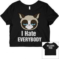 I Hate Everyone Cat Top