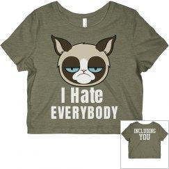 I Hate Everyone Cat Top