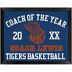 Best Coach Award Plaque