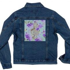 Floral Treble Clef Purple Flowers