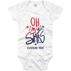 Custom Text Oh My Stars Onesie