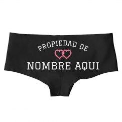 Custom Underwear Propiedad De Nombre
