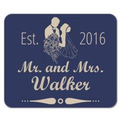 Est. Mr. & Mrs. Wedding Mousepad