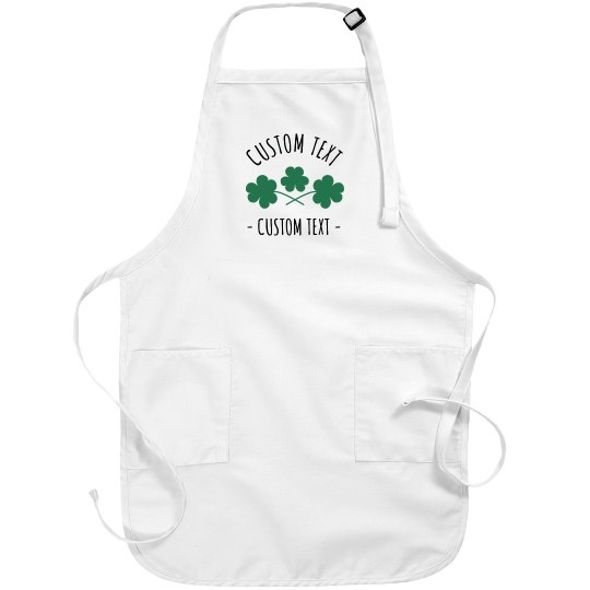 d6644afbb Customizable St. Patrick's Day Aprons Full Length Kelly Green Bib Apron  with Pockets