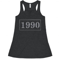 1990 Metallic Crop Tank