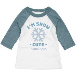 Snow Cute Toddler Raglan