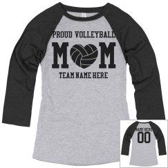 Proud Custom Volleyball Mom