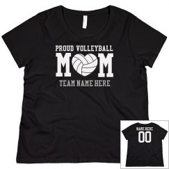 Curvy Plus Sized Volleyball Mom