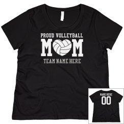 Curvy Plus Sized Volleyball Mom