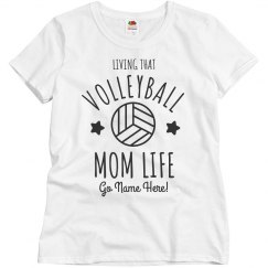 Volleyball Custom Basic Mom Life