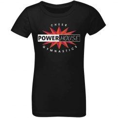 Youth girls black t-shirt