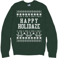 A Cannabis Christmas Sweater