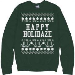 A Cannabis Christmas Sweater