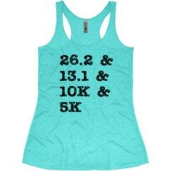 Running Distances Racerback