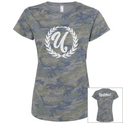 Undefined Womans Camo Tee (White Text)