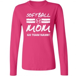 Proud Softball Mom Long Sleeve