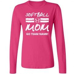 Proud Softball Mom Long Sleeve