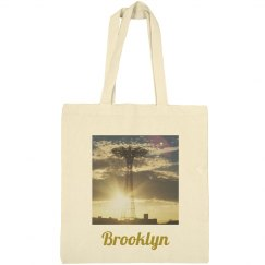 Coney Island Brooklyn Tote Bag- Jazzy Art