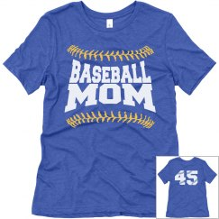 Custom Baseball Mom Shirts With Custom Numbers