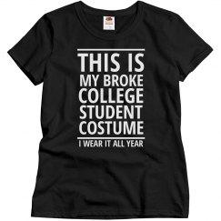 The Broke Student Costume