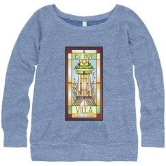 Ladies Comfy Villa Logo Crew Sweatshirt