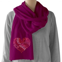 Text Heart Scarf
