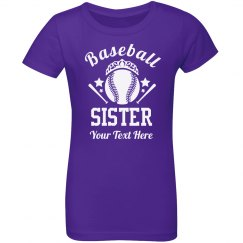 Custom Baseball Sister Fan