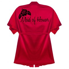 Red Maid of Honor Robe