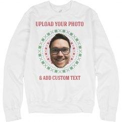 Upload Your Photo Ugly Xmas Sweater