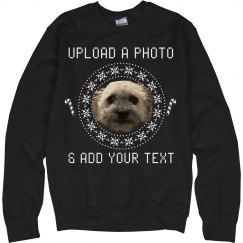 Custom Pet Photo Ugly Sweater