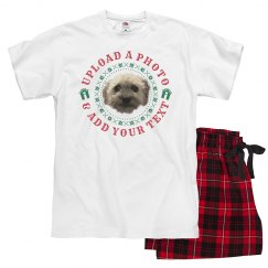 Custom Family Dog Photo Pajamas