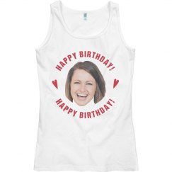 Cut Out Face Birthday Tank