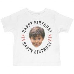 Custom Toddler Face Photo Birthday Tee