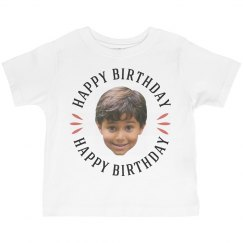 Custom Toddler Face Photo Birthday Tee