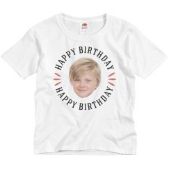 Custom Kid Face Birthday Tee