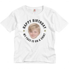 Kids Cut Out B-Day Tee
