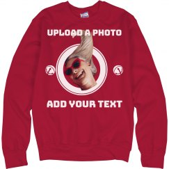 Upload A Photo And Add Text Ugly Christmas Sweater