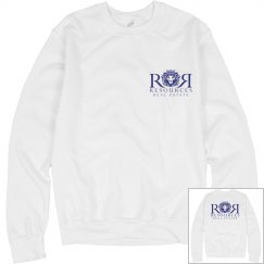 Ladies White Crew Sweatshirt
